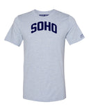 Sky Blue Soho T-shirt with Blue Letters