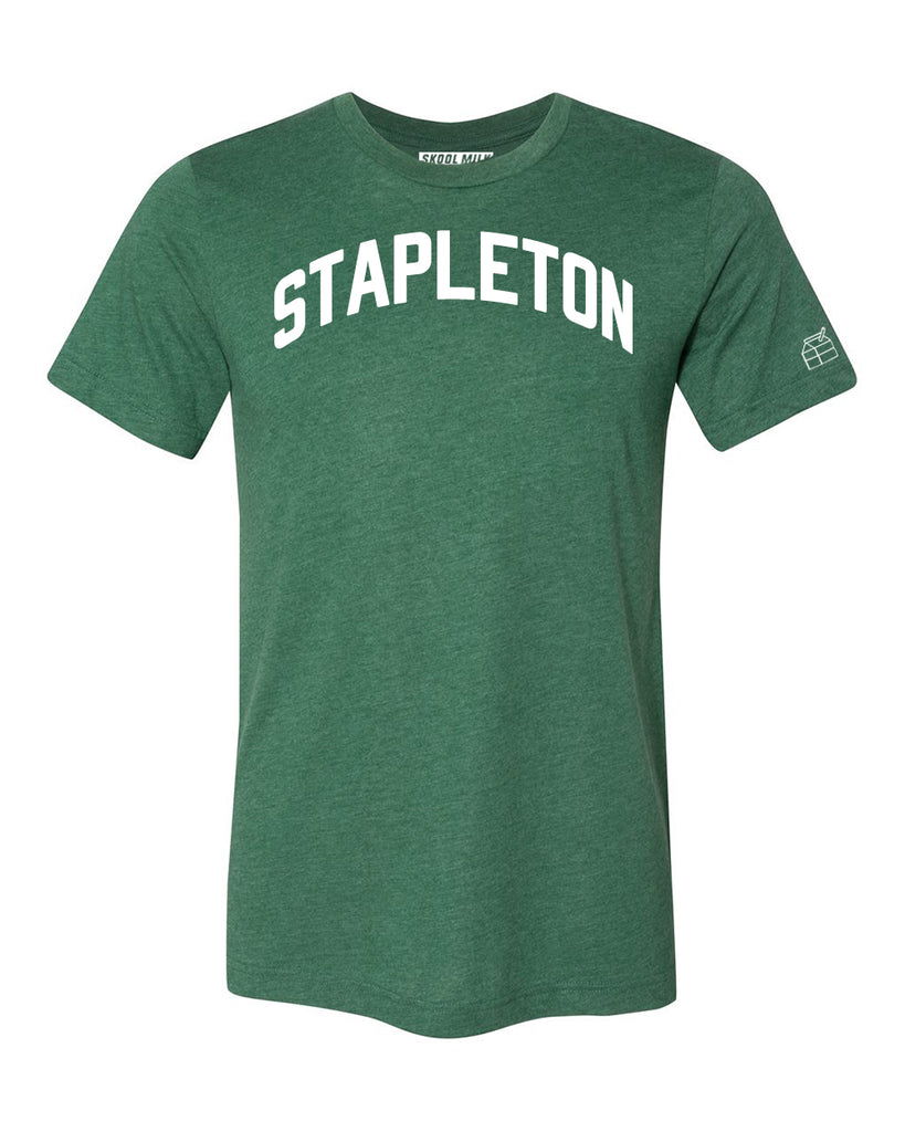 Green Stapleton T-shirt with White Reflective Letters