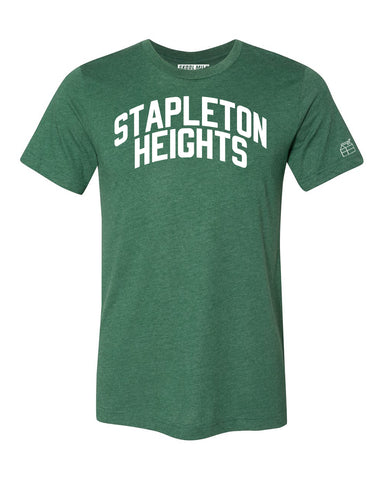 Green Stapleton Heights T-shirt with White Reflective Letters