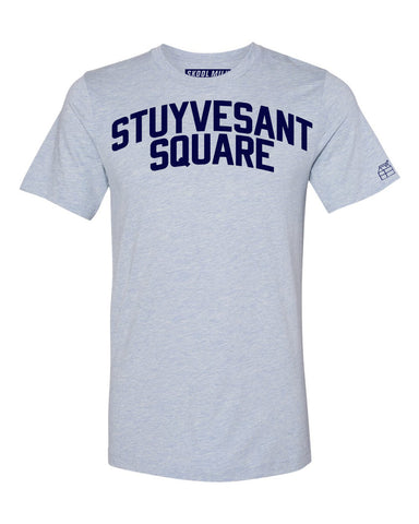 Sky Blue Stuyvesant Square T-shirt with Blue Letters