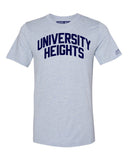 Sky Blue University Heights Bronx T-shirt with Blue Letters