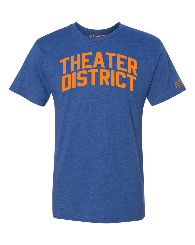 Blue Theater District  T-shirt with Knicks Orange Letters