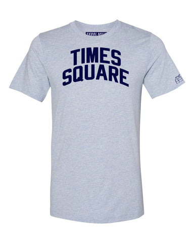 Sky Blue Times Square  T-shirt with Blue Letters