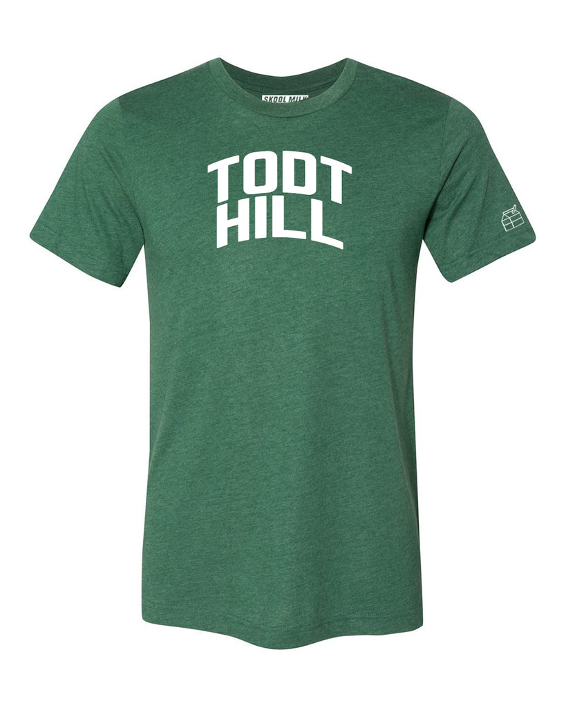 Green Todt Hill T-shirt with White Reflective Letters