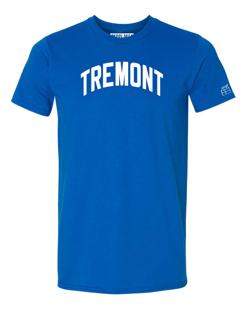 Blue Tremont T-shirt with White Reflective Letters