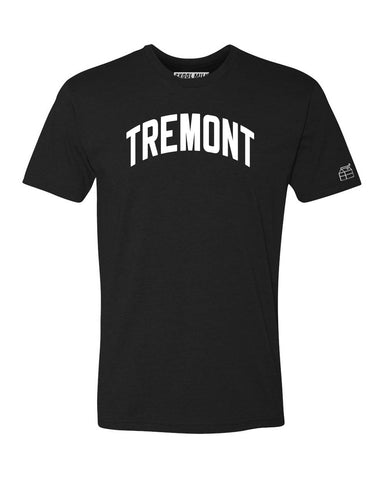 Black Tremont T-shirt with White Reflective Letters