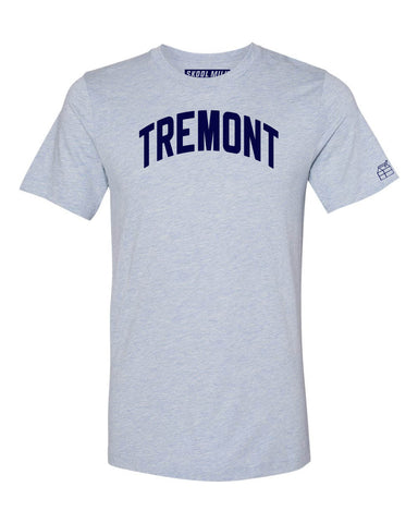 Sky Blue Tremont Bronx T-Shirt with Blue Letters
