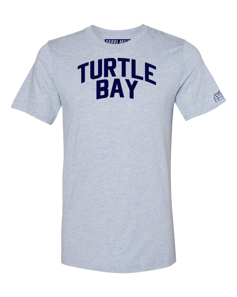 Sky Blue Turtle Bay T-shirt with Blue Letters