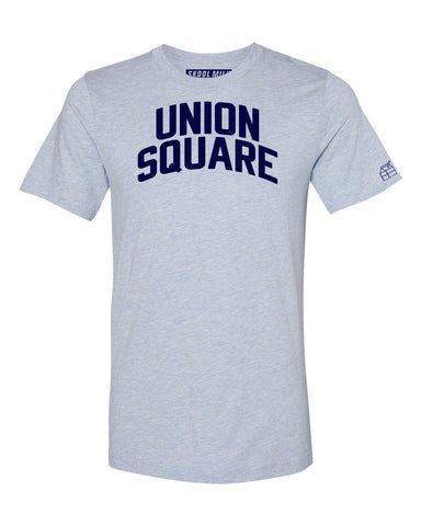 Sky Blue Union Square T-shirt with Blue Letters