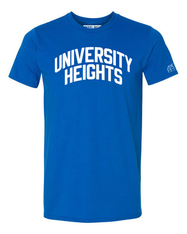 Blue University Heights T-shirt with White Reflective Letters