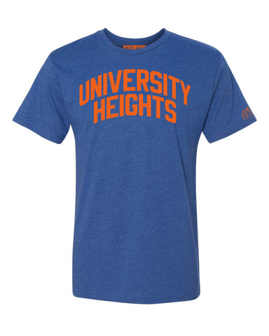 Blue University Heights T-shirt with Knicks Orange Letters
