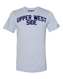 Sky Blue Upper West Side T-shirt with Blue Letters