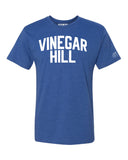 Blue Vinegar Hill T-shirt with White Reflective Letters