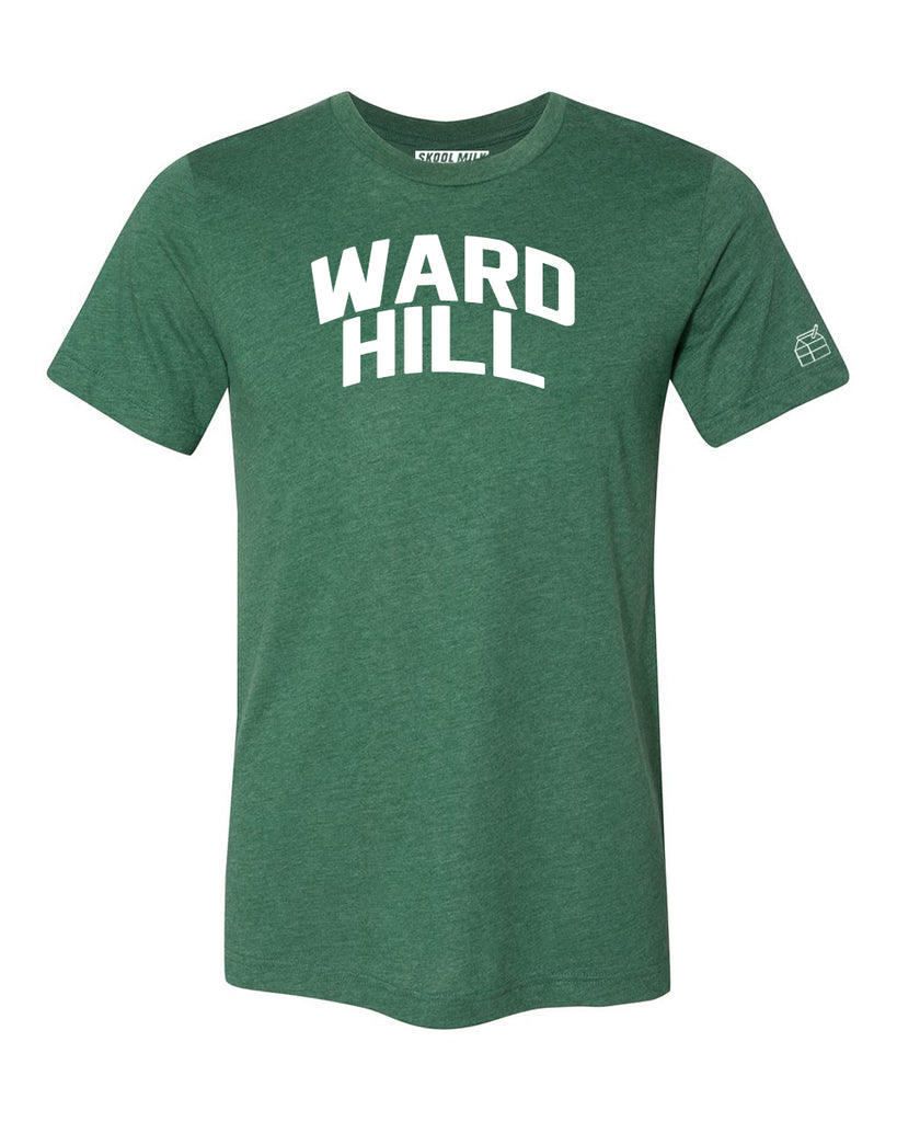 Green Ward Hill T-shirt with White Reflective Letters