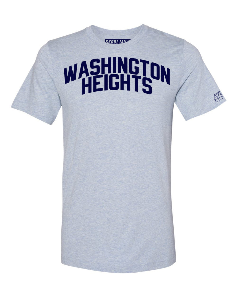 Sky Blue Washington Heights T-shirt with Blue Letters
