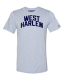 Sky Blue West Harlem T-shirt with Blue Letters