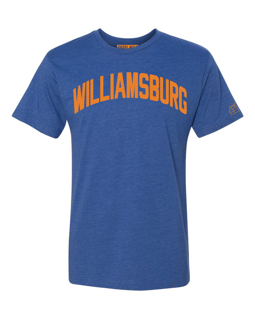 Blue Williamsburg T-shirt with Knicks Orange Letters
