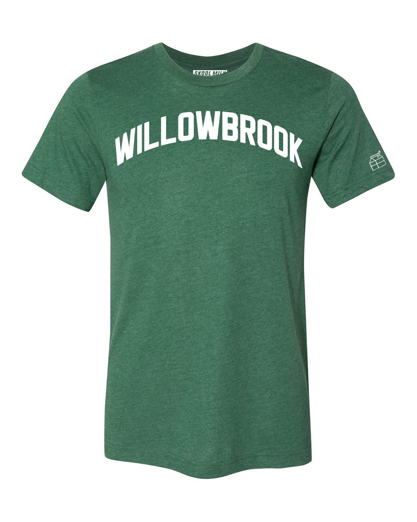 Green Willowbrook T-shirt with White Reflective Letters