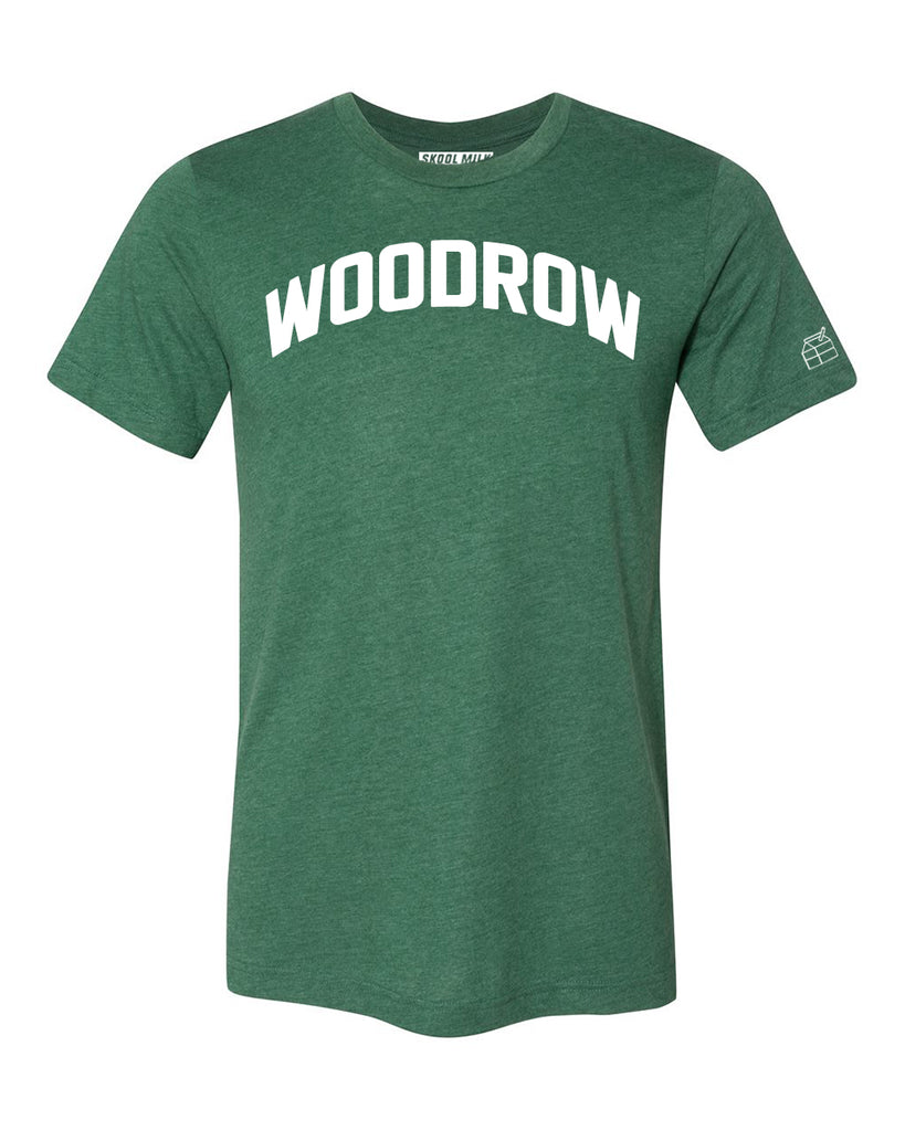 Green Woodrow T-shirt with White Reflective Letters