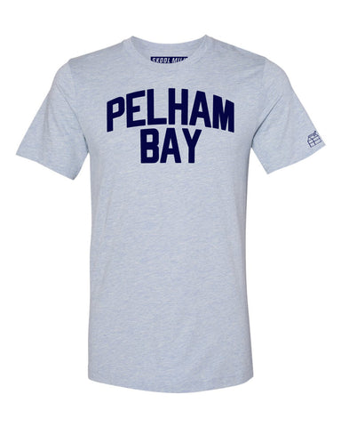 Sky Blue Pelham Bay Bronx T-shirt with Blue Letters