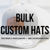 custom hats with leather patch bulk