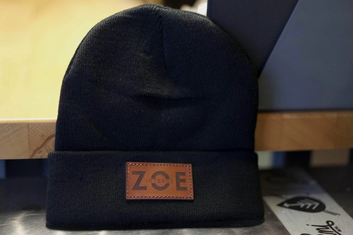 custom leather beanies