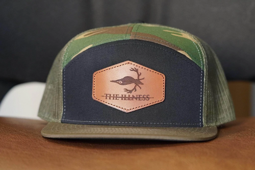 custom leather patch hats