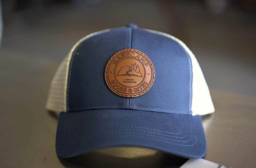 custom organic recycled trucker hats with patch