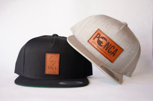 custom snapback with patch leather