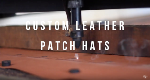 laser engraved leather patches for hats by dekni creations