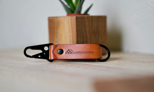 custom engraved leather keychain keyring fobs by dekni creations