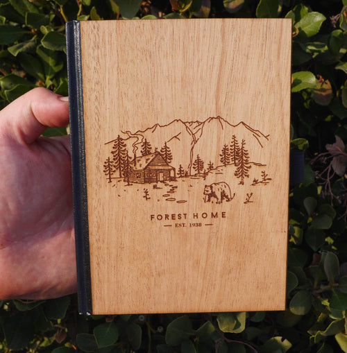 Wooden Journals engraved with your logo