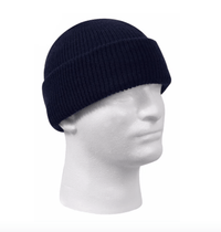 custom 100% wool beanies with leather patch