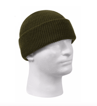 custom leather patch beanies