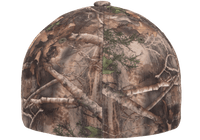 custom camo hat with leather patch