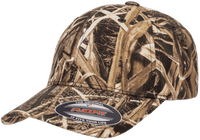 custom mossy oak hat with leather patch