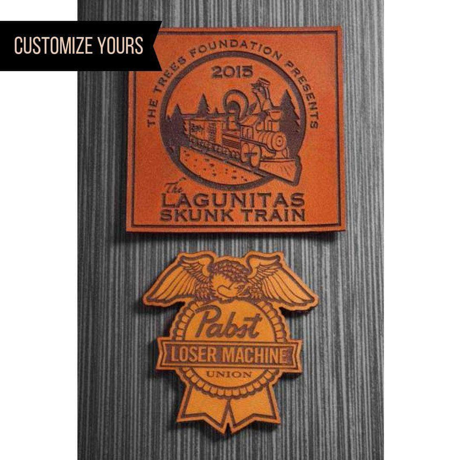 Custom Laser Engraved Leather Patches