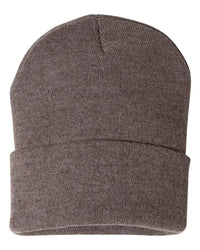 "SP12 - Sportsman - 12"" Solid Knit Beanie Stocking Cap (Custom with Your Logo)"