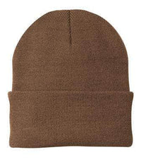 personalized leather patch beanies