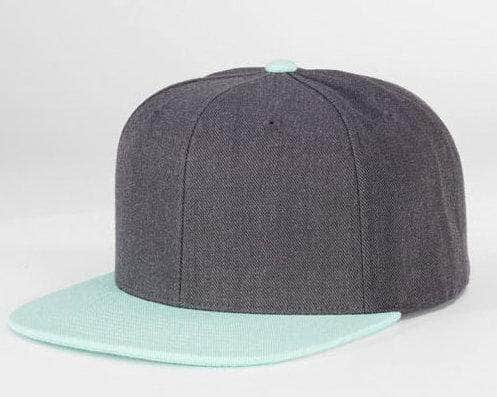 c36ca5eb476 Charcoal Blue 6 PANEL WOOL CUSTOM SNAPBACK cap for Embroidery   laser  engraving leather patch