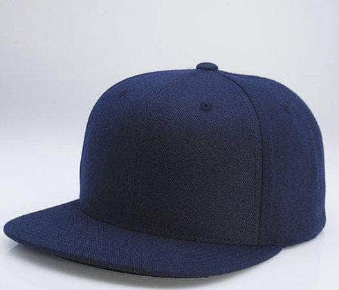 5d93def8b31 Navy 6 PANEL WOOL CUSTOM SNAPBACK cap for promotional Embroidery   laser  engraving leather patch