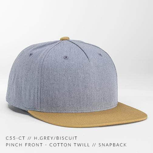 C55-CT - PINCH FRONT - COTTON TWILL // CUSTOM SNAPBACK