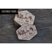 custom wood stickers