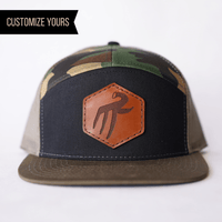 custom 7 panel patch hat with logo