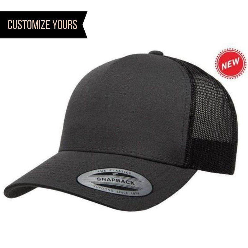 fa111e5f Grey 5-Panel Retro Trucker Mesh Custom Cap for laser engraving leather  patch and Embroidery