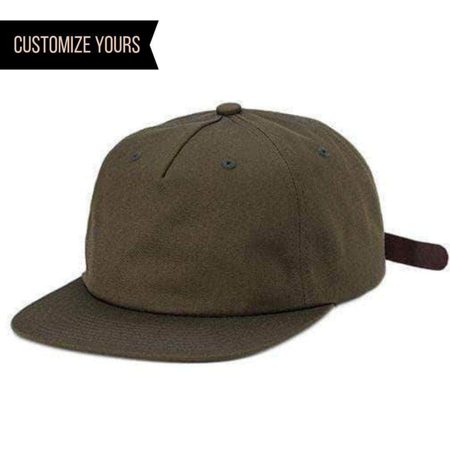 1799b0db Buck PINCH Cotton Unstructured CUSTOM STRAPBACK cap for Embroidery &  engraving leather patch