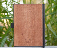 engraved wood journals