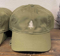 green tree bulk eco friendly caps with personalized embroidery by dekni creations