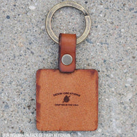 Die Cut (Custom Shape) Leather Keychain
