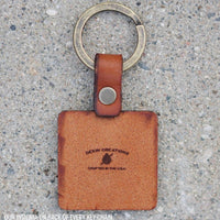 Standard Shapes Leather Keychain (Circle, Square, Triangle)
